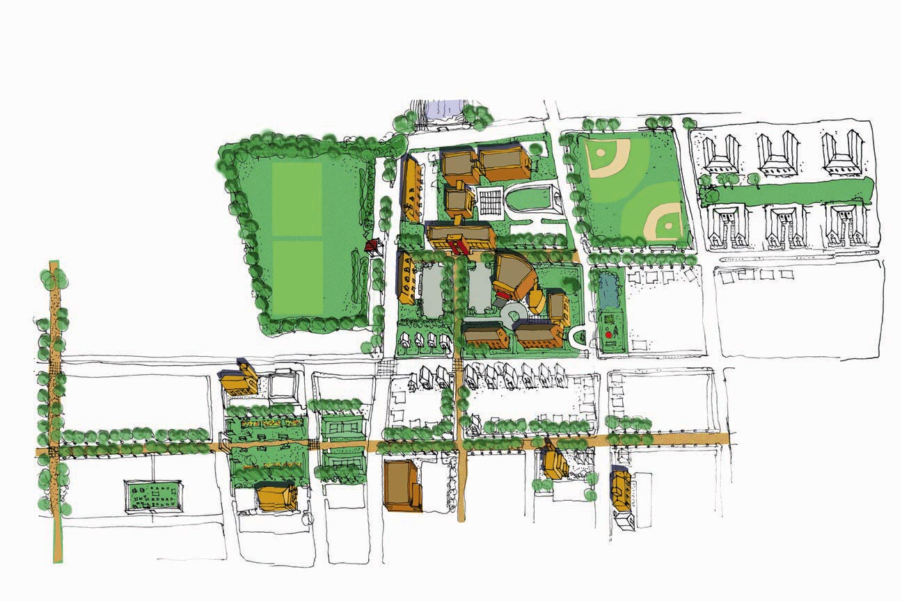 Sketch of layout view middle school plan